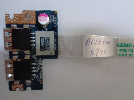 USB board за Acer TravelMate 5740, Aspire 5742,Acer TravelMate 5735, Aspire 5551