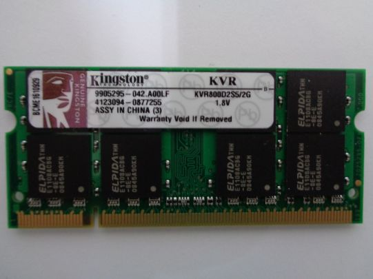 RAM памет Kingston DDR2 2GB 800 MHZ