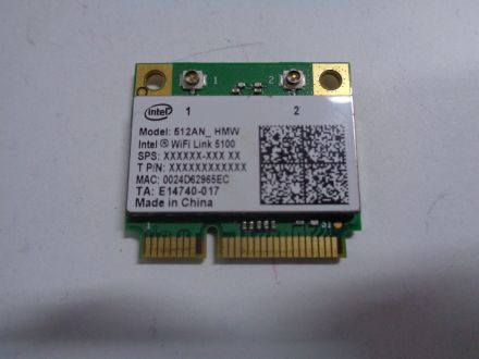 Intel 5100 WLAN Card 802.11bgn 512an HMW Link 5100