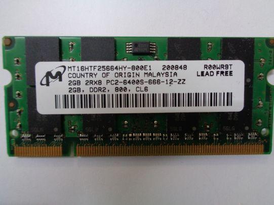 RAM памет Micron DDR2 2GB 800 MHZ