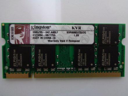 RAM памет Kingston DDR2 2GB 800 MHZ