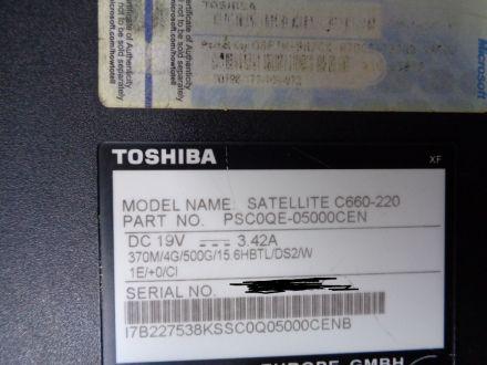 Toshiba Satellite C660-220